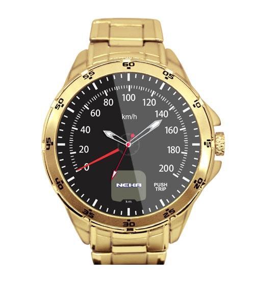Velocímetro  Mitsubishi L200 Triton Relógio Personalizado Dourado 5776 (0)