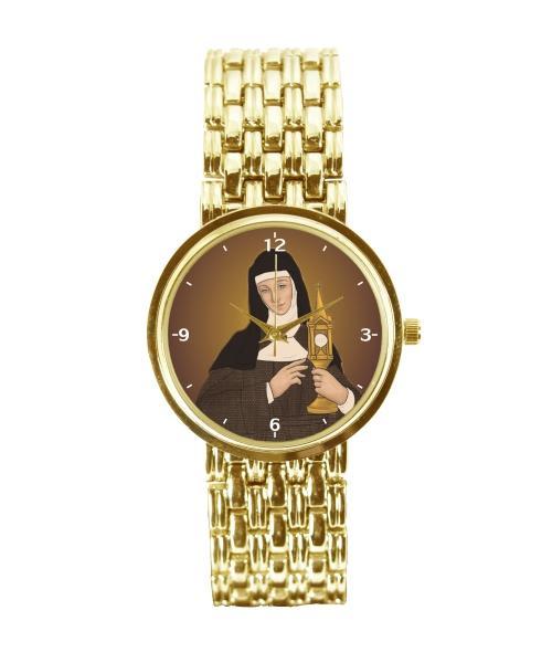 Santa Clara Relógio Personalizado Feminino Dourado 3330 (0)