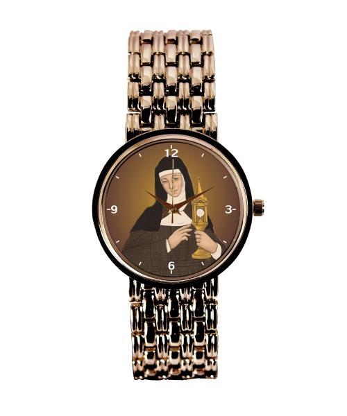 Santa Clara Relógio Personalizado Feminino Cobre 3330 (0)