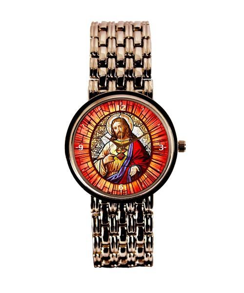 Sagrado Coração de Jesus Relógio Personalizado Feminino Cobre 3330 (0)