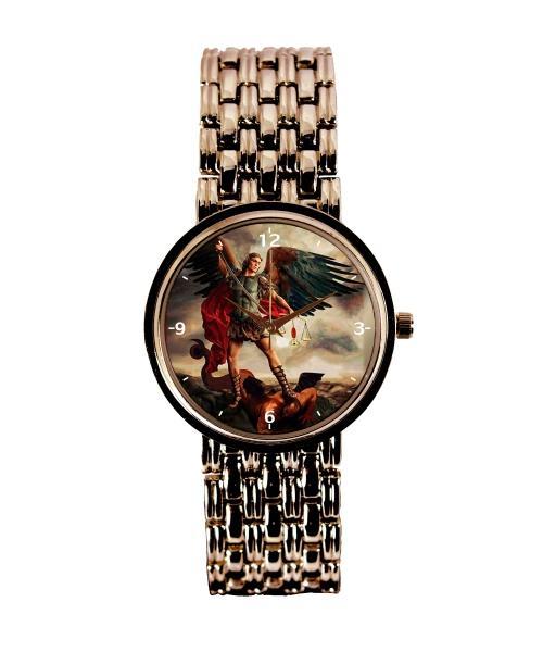 São Miguel Arcanjo Relógio Personalizado Feminino Cobre 3330 (0)
