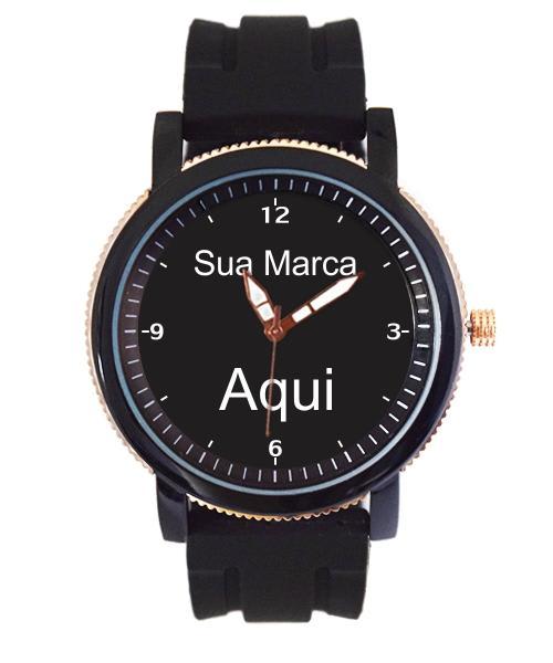 Relógio Personalizado Com Foto Logo  pulseira borracha 5036 (0)