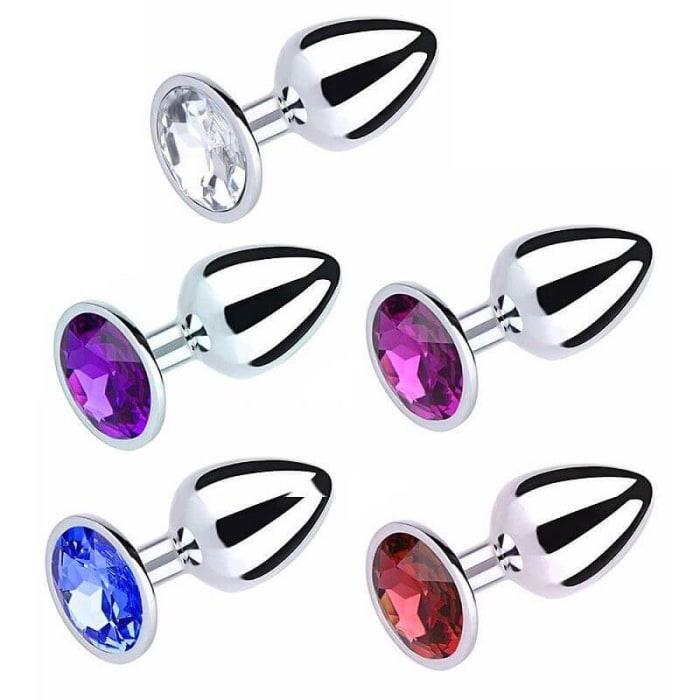 plug-anal-metalico-strass-pedras-diamante-cores-sensacoes-sex-shop