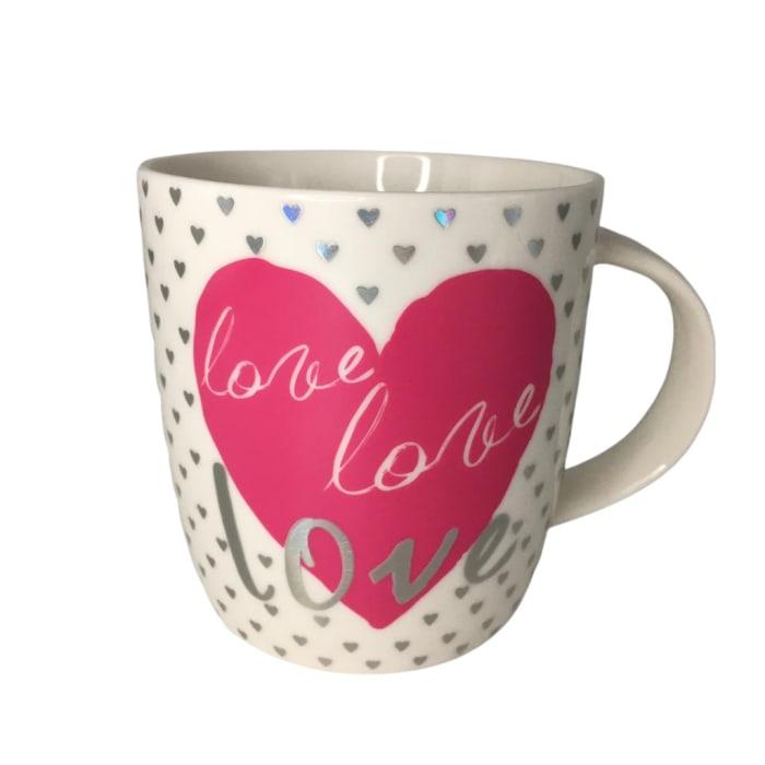 Caneca Cerâmica Love Love Love Namorados 340ml Girl Boss (big)