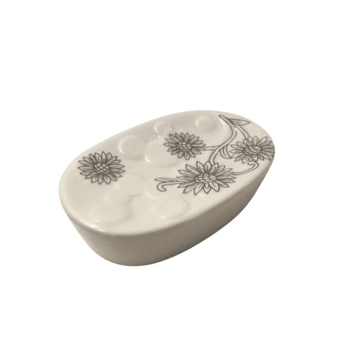 Kit Acessórios Para Banheiro 3 Peças  de cerâmica lavabo porta sabonete líquido escova (big)