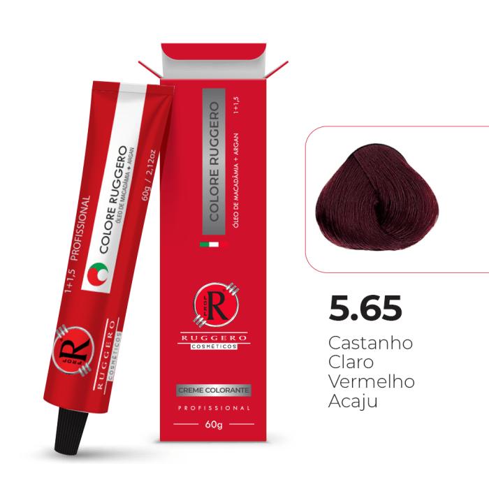 Colore 5.65 - Castanho Claro Vermelho Acaju - 60g