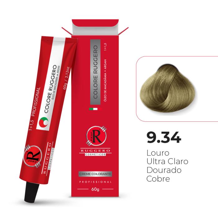 Colore 9.34 - Louro Ultra Claro Dourado Cobre - 60g