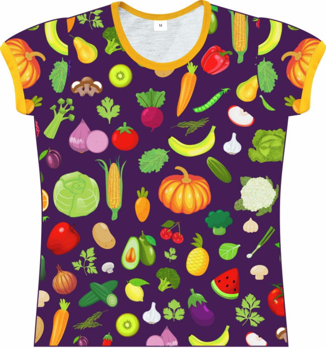Camiseta Infantil Feminina Saladinha frente