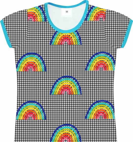 Camiseta Infantil Feminina Arco Íris frente