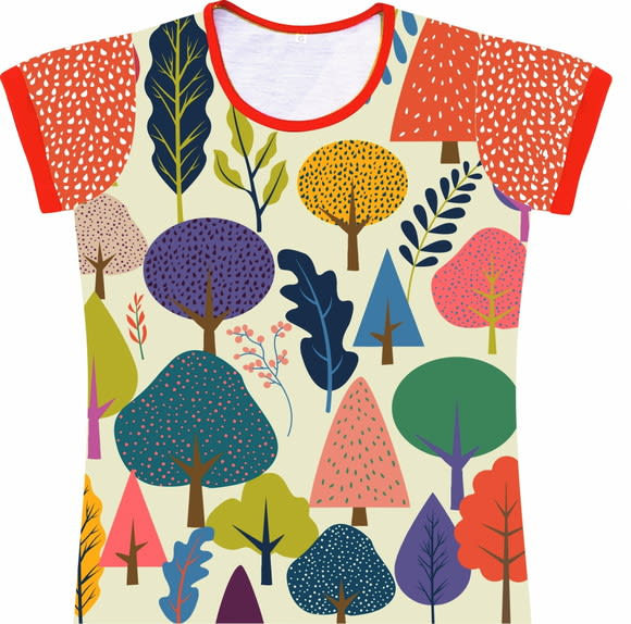 Camiseta Infantil Feminina Árvores frente