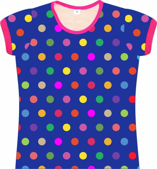 Camiseta Infantil Feminina Bolas coloridas frente