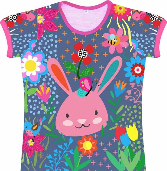 Camiseta Infantil Feminina Coelho frente