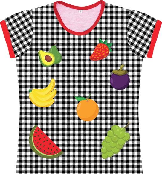 Camiseta Infantil Feminina Frutinhasfrente