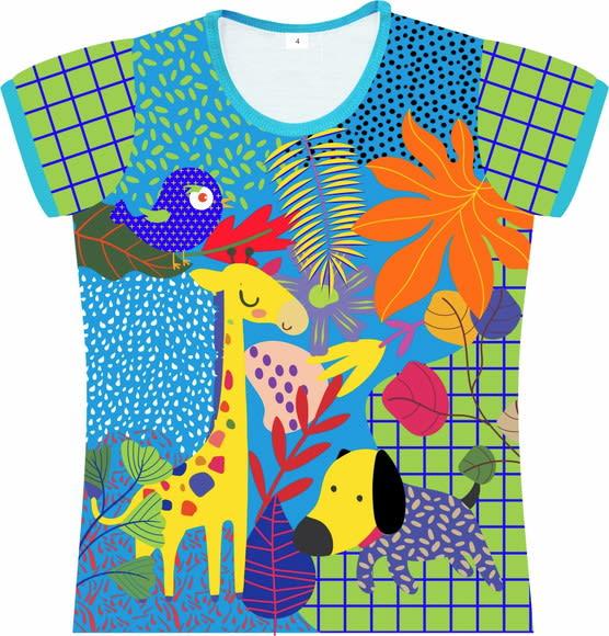 Camiseta Infantil Feminina Girafa frente