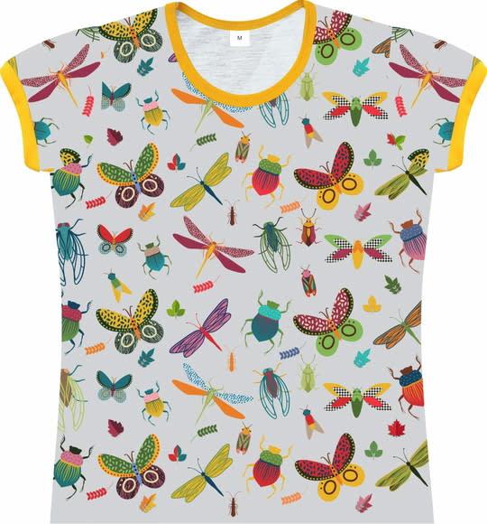 Camiseta Infantil Feminina Insetos frente