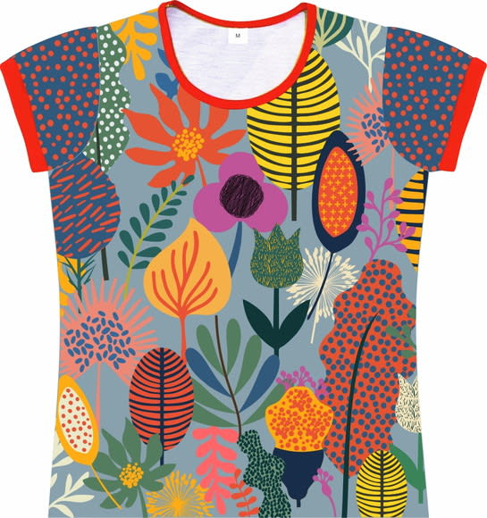 Camiseta Infantil Feminina Jardim frente