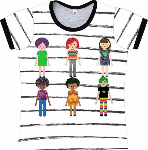 Camiseta Infantil Feminina Meninas frente