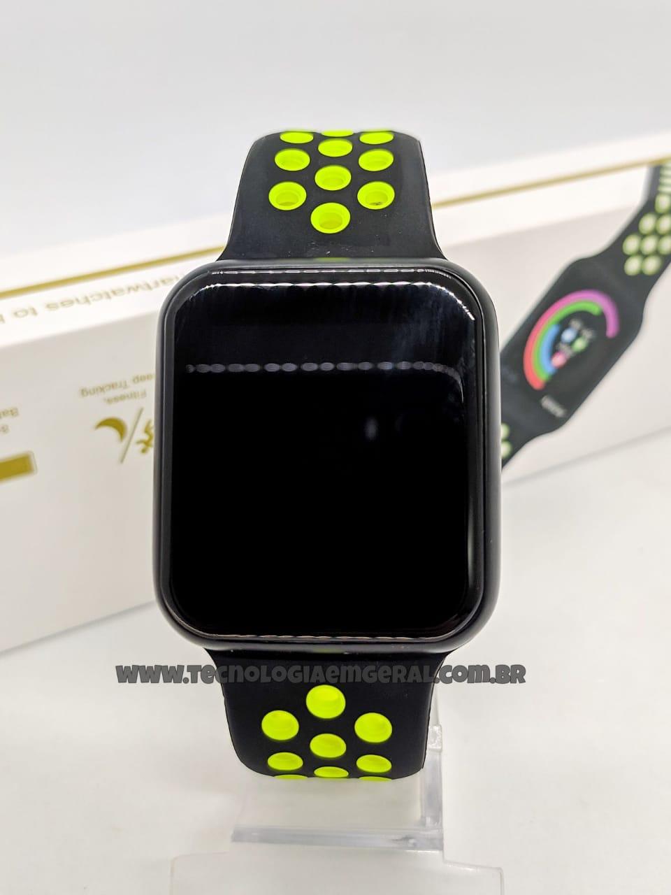 Relógio Smartwatch F8-Preto  Verde