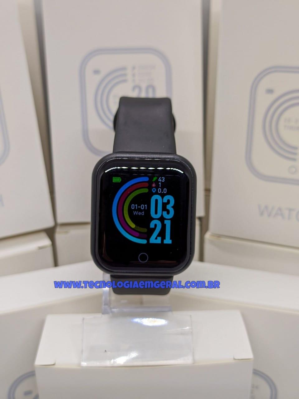 Relógio Smartwatch D20 Preto-  2021