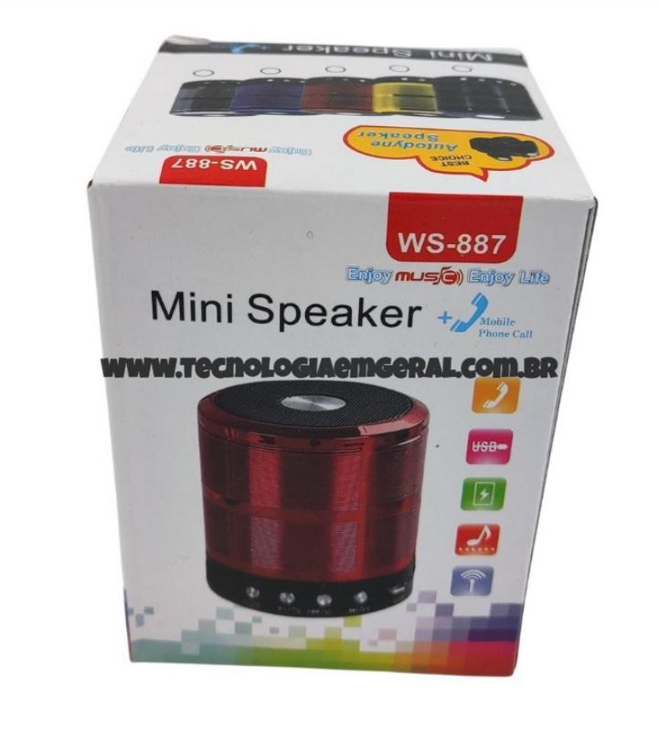 Mini Speaker Caixa de Som Bluetooth