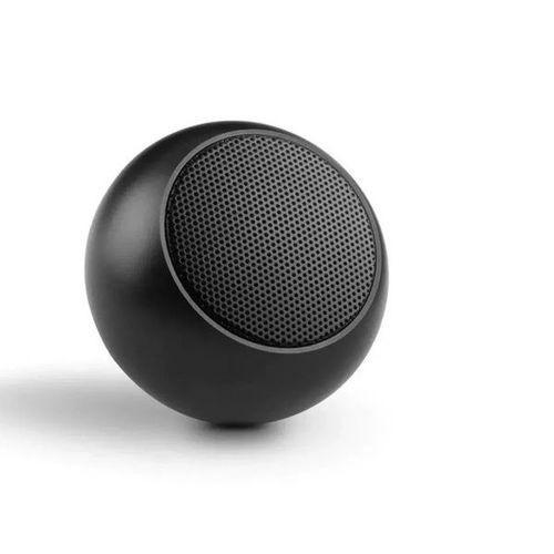 Caixinha Som Bluetooth Tws Metal Preta Mini Speaker Amplificada 3w