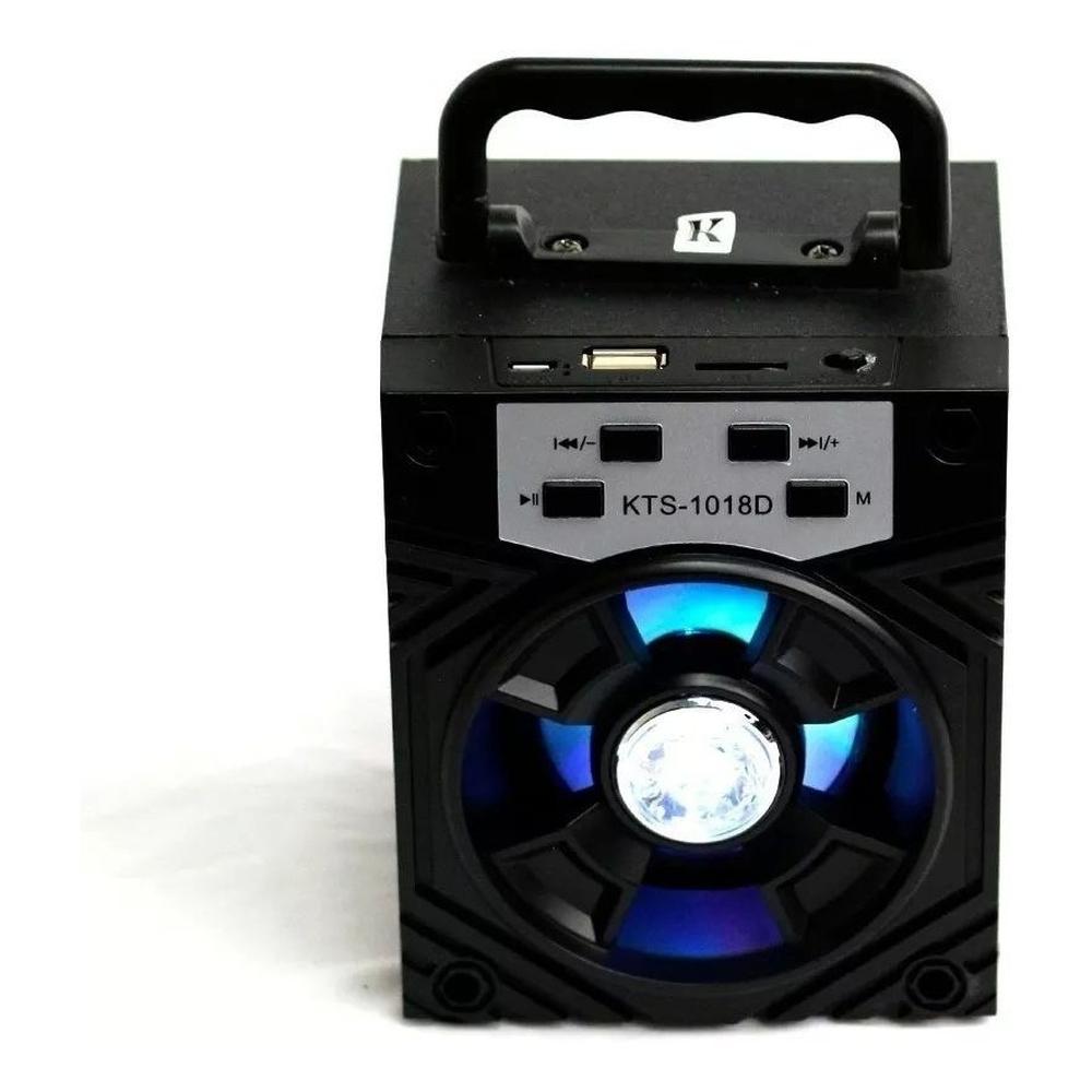 Caixinha Som Amplificada Portátil Mp3 Usb Micro Sd Rádio Fm - Preta
