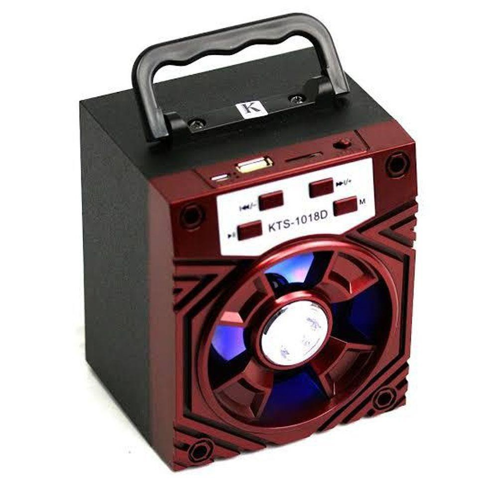 Caixinha Som Amplificada Portátil Mp3 Usb Micro Sd Rádio Fm - Vermelha