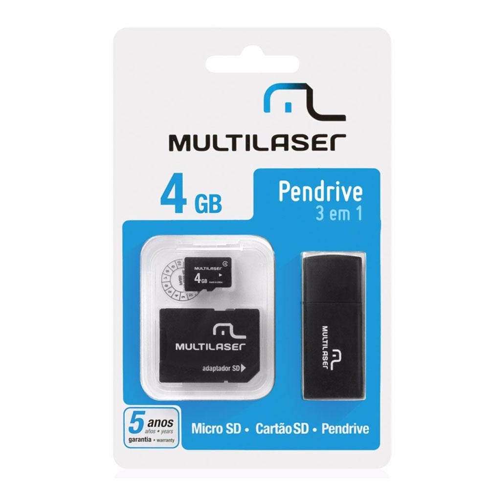 Cartão de Memória Multilaser MicroSD Card - Adaptador SD