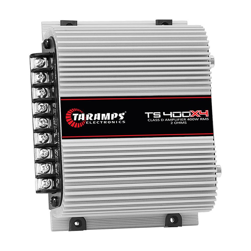 Módulo De Potência Taramps TS- 400x4 Digital 2R 400W RMS 4 Canais Full Range 13,8V..