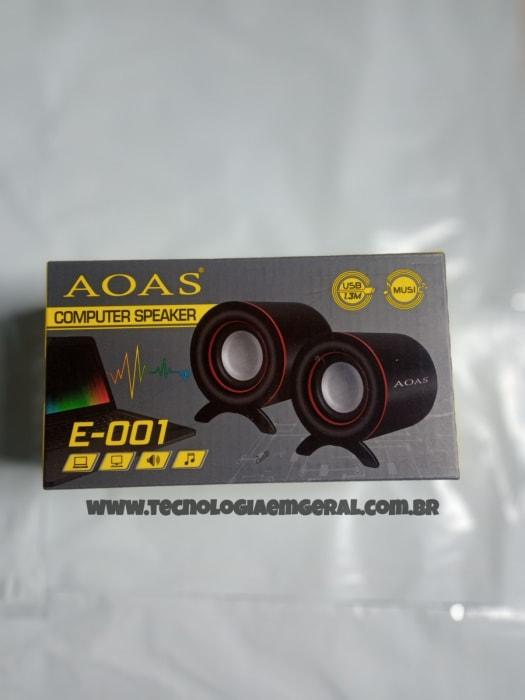 Caixa de Som para Computador e Notebook USB P2 AOAS - YT-E-001
