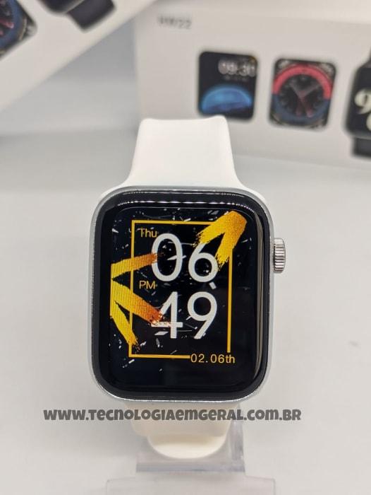 Relógio Smartwatch HW22  - Prata (A prova d'Água).