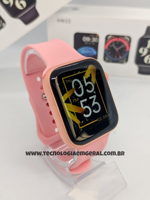 Relógio Smartwatch HW22  -  Rose  (A prova d'Água)